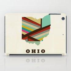 Ohio state map modern iPad Case