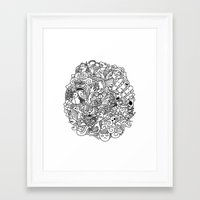 doodle Framed Art Prints featuring Doodle  by simovibart