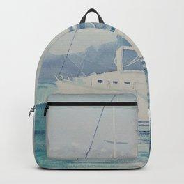 White Boats Backpack