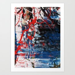 Red Blue 003 Art Print