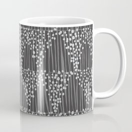 Dots + Stripes - Charcoal Coffee Mug