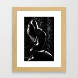 Cold Shower Framed Art Print