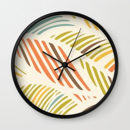 Fine Feather Pattern Wall Clock
