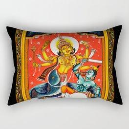 Hindu Durga 7 Rectangular Pillow
