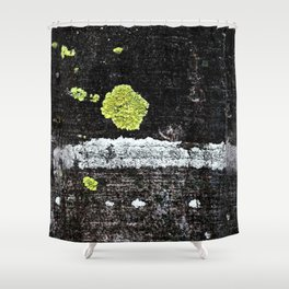 Lichens on a Tree Bark Shower Curtain