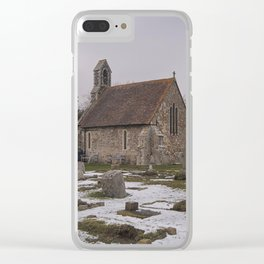 Seasalter Old Church In Winter Clear iPhone Case