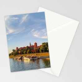 Magical Wawel Castle in Krakow - view from the bridge Stationery Cards