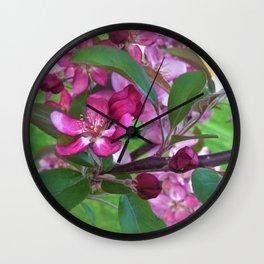 Profusion Crabapple Tree 2 Wall Clock