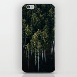 Aerial Photograph of a pine forest in Germany - Landscape Photography iPhone Skin