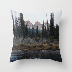 Three Sisters, Canmore Throw Pillow