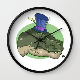 Lady Killer - Green Wall Clock