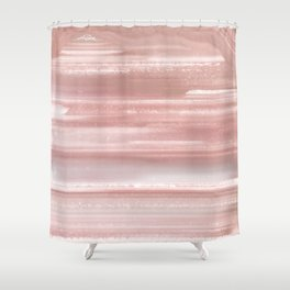 Geode Crystal Rose Gold Pink Shower Curtain
