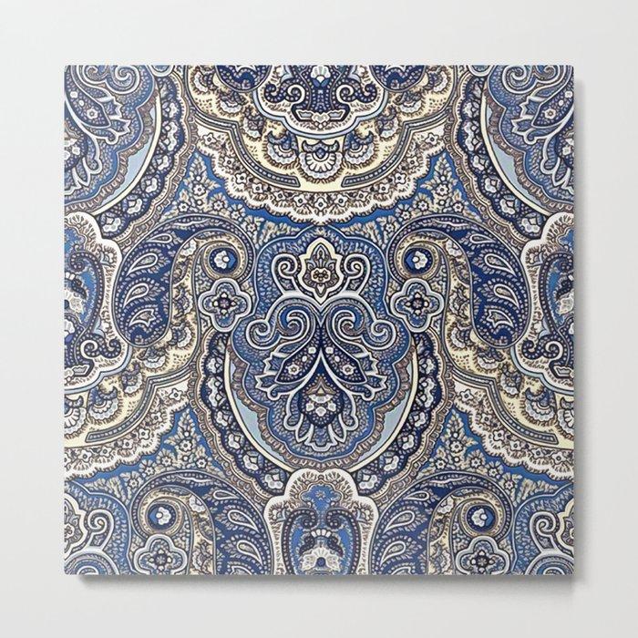 Boho paisley pattern Metal Print