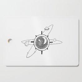 Solar System Illustration, Original (Inktober Day 8: Star) Cutting Board