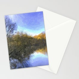 English Pond Art Stationery Cards