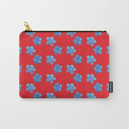 Gentian pattern Carry-All Pouch
