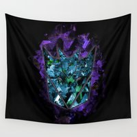transformers Wall Tapestries featuring Decepticons Abstractness - Transformers by DesignLawrence