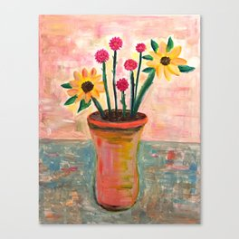 Fan's Daily life series-Happiness flowers in Palo Alto Canvas Print
