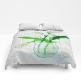 White Calla Lilies Comforters