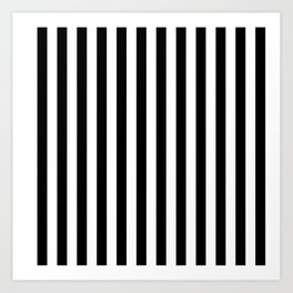 Black and white vertical stripes | Classic cabana Stripe Art Print
