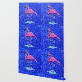 Fancy Francie Flamingo Wallpaper
