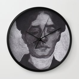 Vincent van Gogh - Head of a young Peasant woman with a dark hood Wall Clock