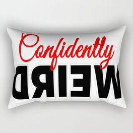 Confidently Weird Rectangular Pillow