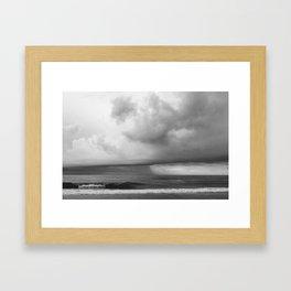 Wrightsville Beach: Summer Storm Framed Art Print