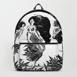 Mermaid Linocut Backpack