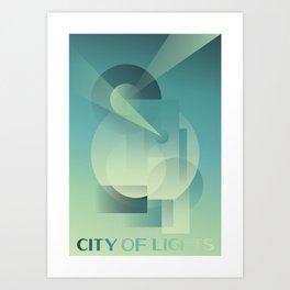 City of Lights Art Print