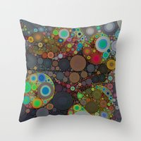 circles Throw Pillows featuring Circles by Olivia Joy StClaire