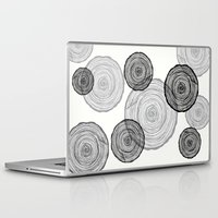tree rings Laptop & iPad Skins featuring rings by Claire Rose Kleese
