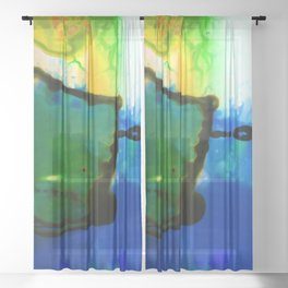 Abstract Bliss 4I by Kathy Morton Stanion Sheer Curtain