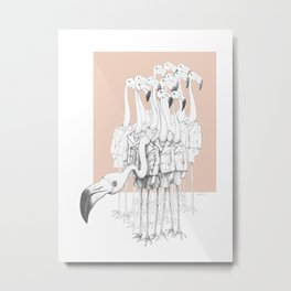 Weird & Wonderful: Flamingo Boys Metal Print