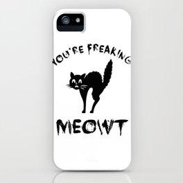 Black Cat Graphic / Halloween Funny Quote Cute Design Art design iPhone Case