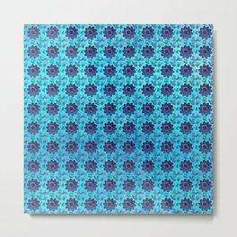 Blue succulent garden Metal Print