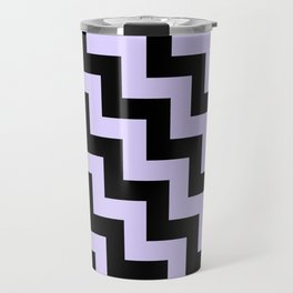 Black and Pale Lavender Violet Steps LTR Travel Mug