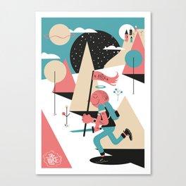 Run boy ! Canvas Print