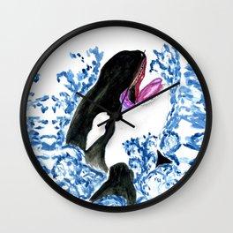 Orca illustration Wall Clock