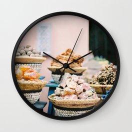 "Travel photography print ""Souks of Marrakech"" | Morocco photo print art | Wanderlust wall art Wall Clock"