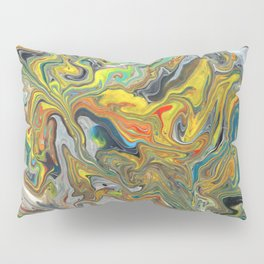 Abstract Oil Painting 6 Pillow Sham