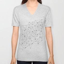 Networks concept and cloud computing, structure of society, variants of decisions, neural network Unisex V-Neck