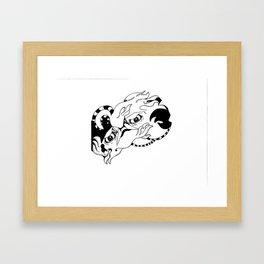 Over the Edge: Eyes. Framed Art Print