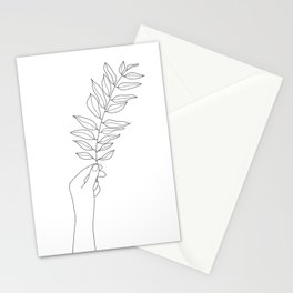 Minimal Hand Holding the Branch III Stationery Cards