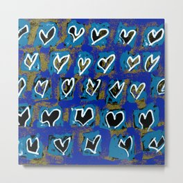 Flying Hearts ~ Pure Love Metal Print