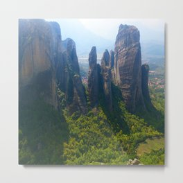 Meditation up to Meteora | Greece | Nature Metal Print