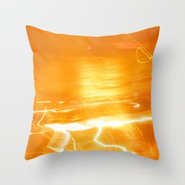 Yellow Lights Throw Pillow