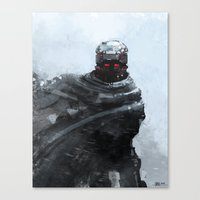 winter soldier Canvas Prints featuring Winter soldier by Kirkrew