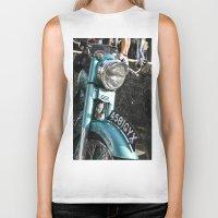 moto Biker Tanks featuring Vintage moto by Johanna Arias