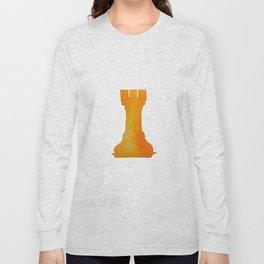 Chess Rook Watercolor Long Sleeve T-shirt